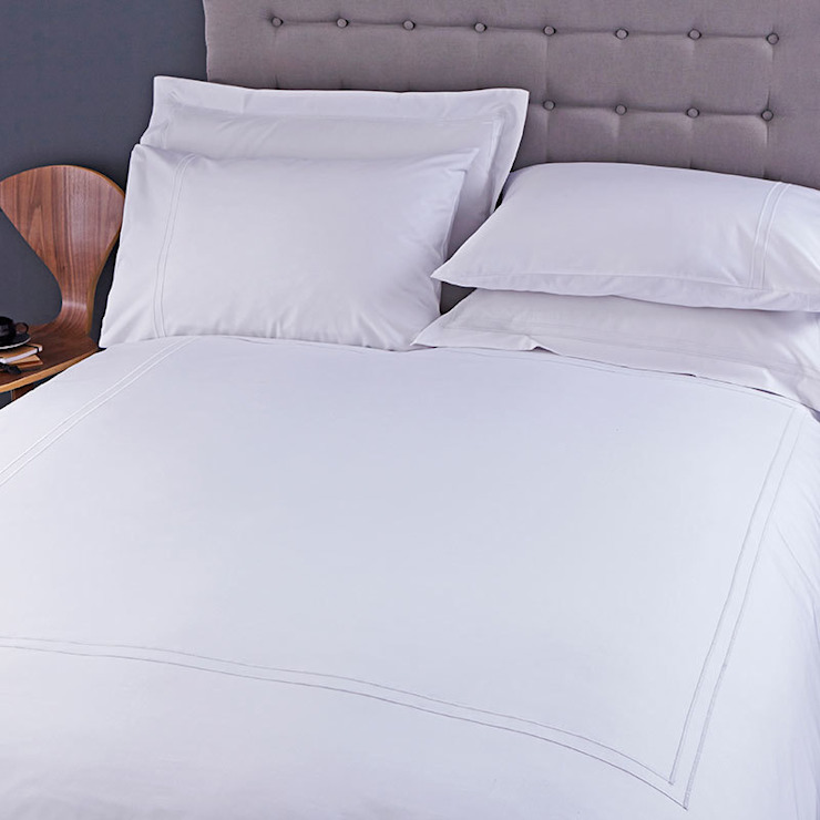 Charlotte Thomas Richmond Bed Set in White: modern  by We Love Linen, Modern