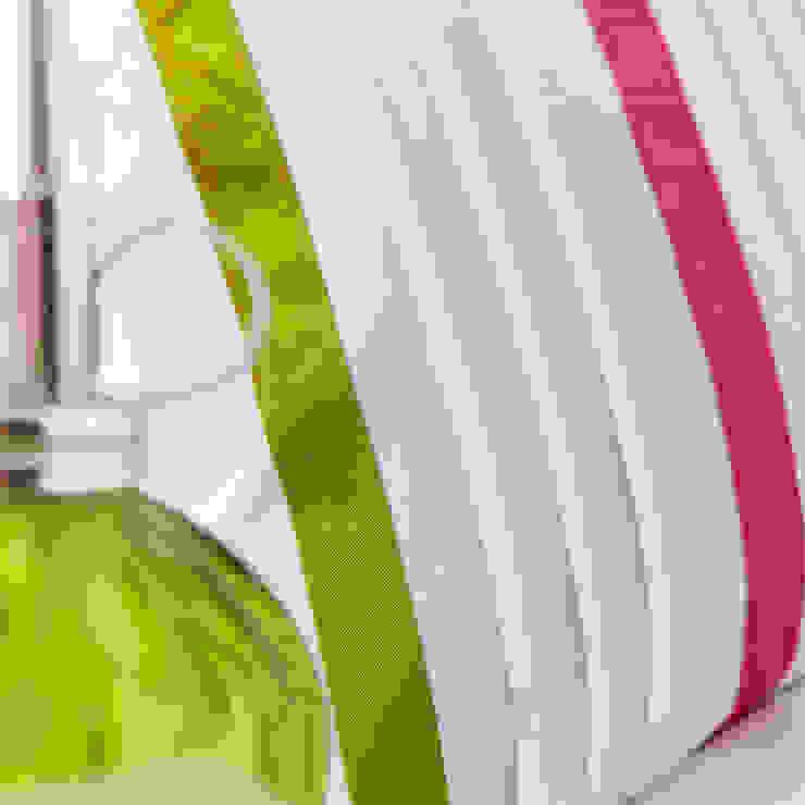Charlotte Thomas Arabella Bed Set in Cerise Pink & Olive Green: modern  by We Love Linen, Modern