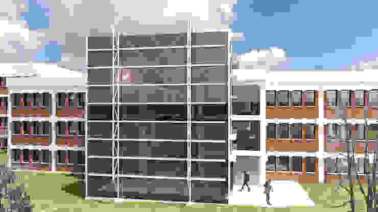 Entrada principal Edificios de oficinas de estilo ecléctico de atelier Victor Salme Ecléctico