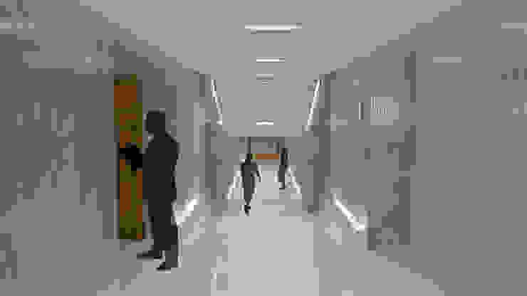 Espacios de circulación Edificios de oficinas de estilo ecléctico de atelier Victor Salme Ecléctico