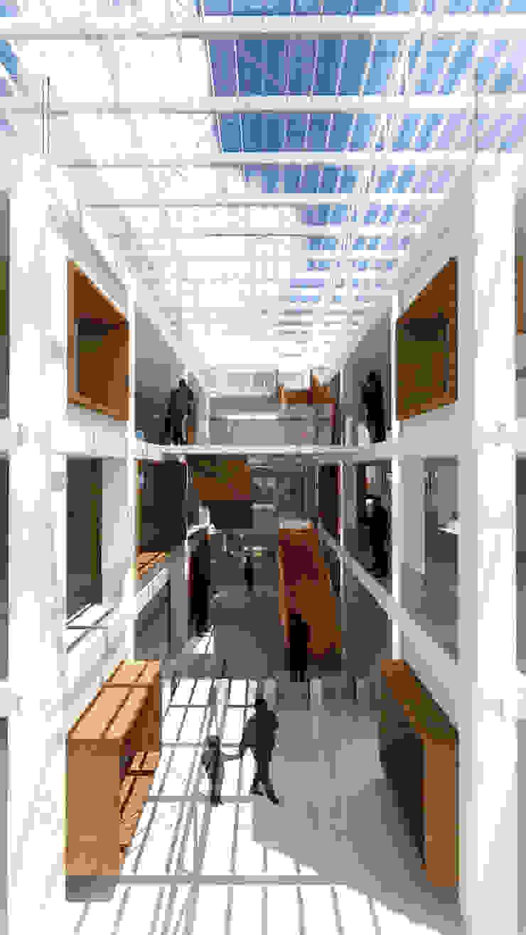 Atrio Edificios de oficinas de estilo ecléctico de atelier Victor Salme Ecléctico