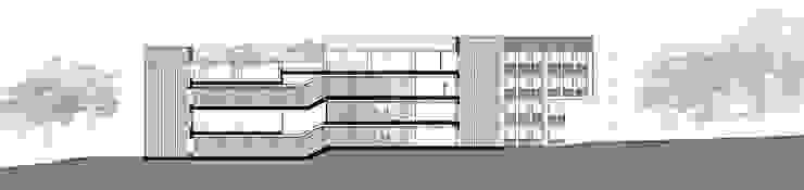 Sección circulaciones. Edificio norte. de atelier Victor Salme