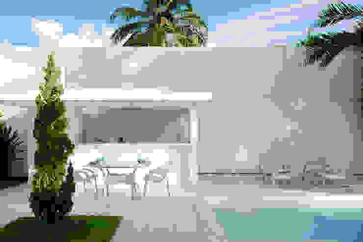 Casa Carqueija Garagens e edículas minimalistas por dantasbento | Arquitetura + Design Minimalista
