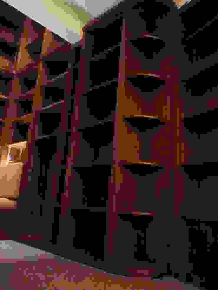 Walnut Shelves: modern  by Simon Rickles Cabinet Making Ltd., Modern