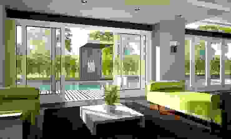 HS Portal Lift & Slide Door Hardware Portas e janelas modernas por Coastal Joinery Hardware Moderno