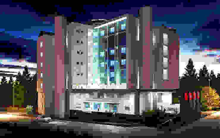 Modern hospitals by NM Mimarlık Danışmanlık İnşaat Turizm San. ve Dış Tic. Ltd. Şti. Modern