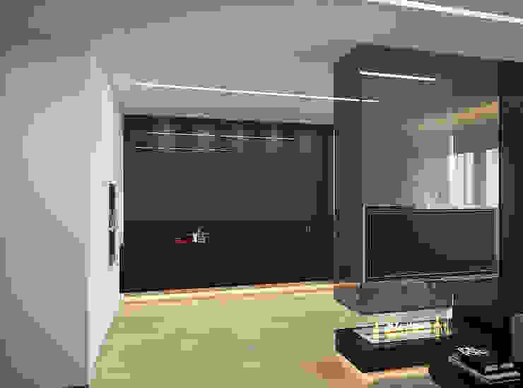 Квартира-студия для холостяка <q>Серый туман</q> Кухня в стиле минимализм от ECOForma Минимализм