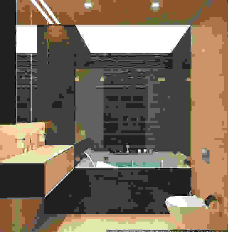 Квартира-студия для холостяка <q>Серый туман</q> Ванная комната в стиле минимализм от ECOForma Минимализм