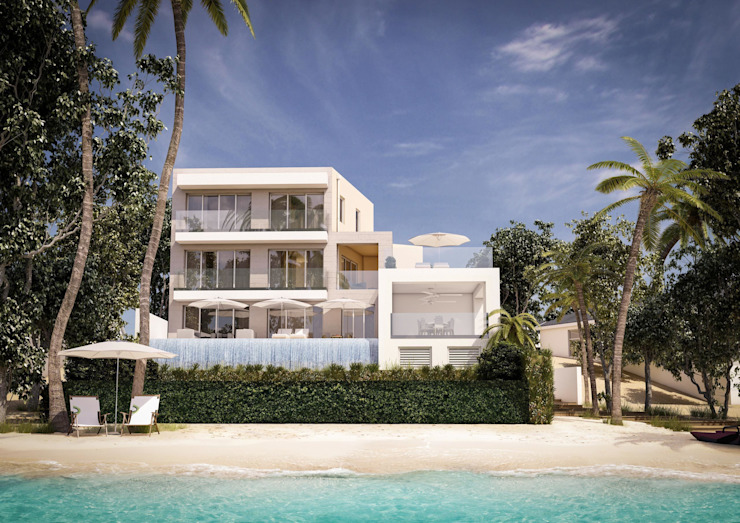 3d architectural visualisation project in Barbados by RedWhite Creative Agency Case moderne di REDWHITE CA Moderno