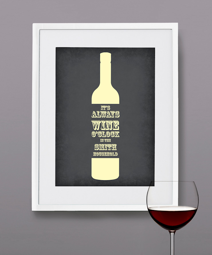 Personalised Print - Wine O'Clock: modern  by MAYKI , Modern