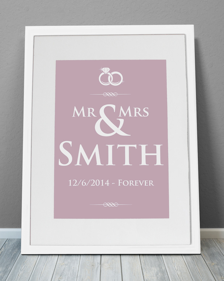Personalised Print - Wedding Rings: modern  by MAYKI , Modern