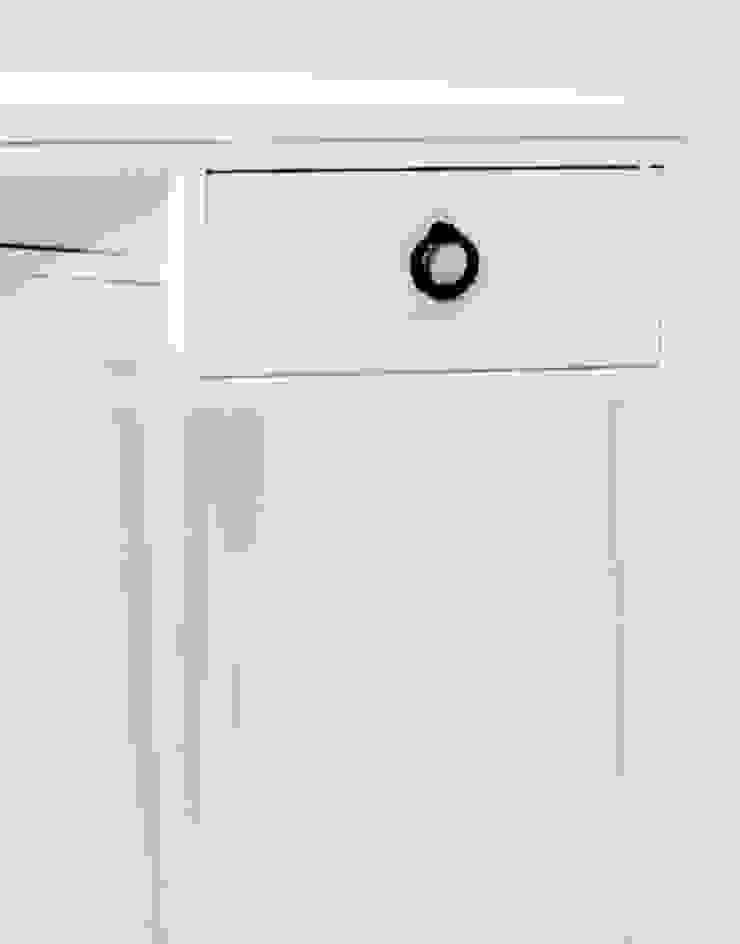 Tocador o escritorio de madera y acero de Cube Deco Escandinavo