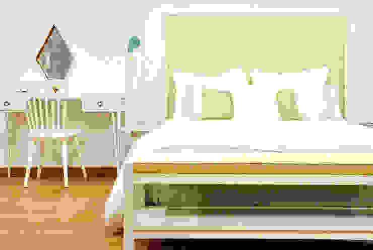 Dormitorio en blanco y lino de Cube Deco Escandinavo