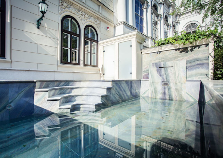 Eclectic style pool by SCHUBERT STONE GmbH Eclectic