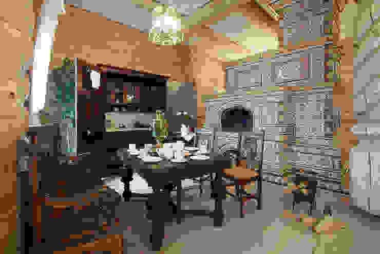 Гостевой дом, гостиница в Русском стиле Кухня в рустикальном стиле от ODEL Рустикальный