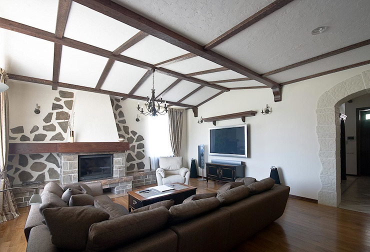 Дом в Средиземноморском стиле Гостиная в средиземноморском стиле от freelancer Средиземноморский