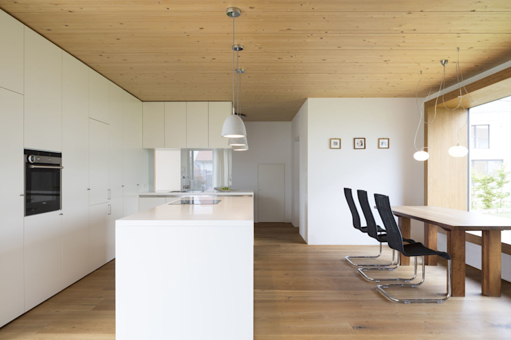 Haus Brunner Moderne Esszimmer von architektur + raum Modern