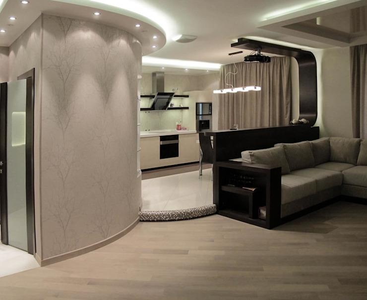 Квартира с мужским характером Гостиная в стиле минимализм от Дизайн-студия Идея Минимализм