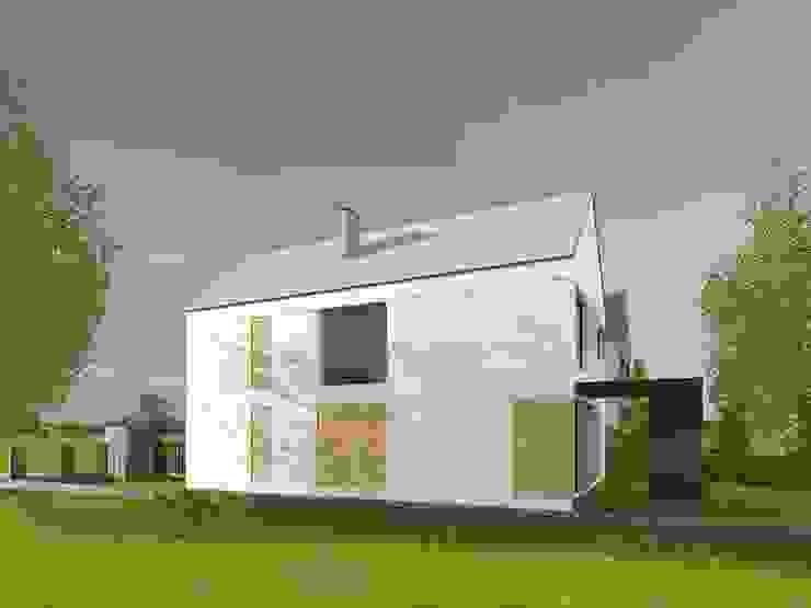widok od strony sąsiada od ASYMETRIK architektura