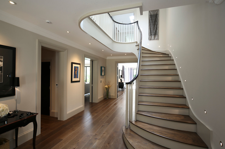 Hall Modern Corridor, Hallway and Staircase by Zodiac Design Modern