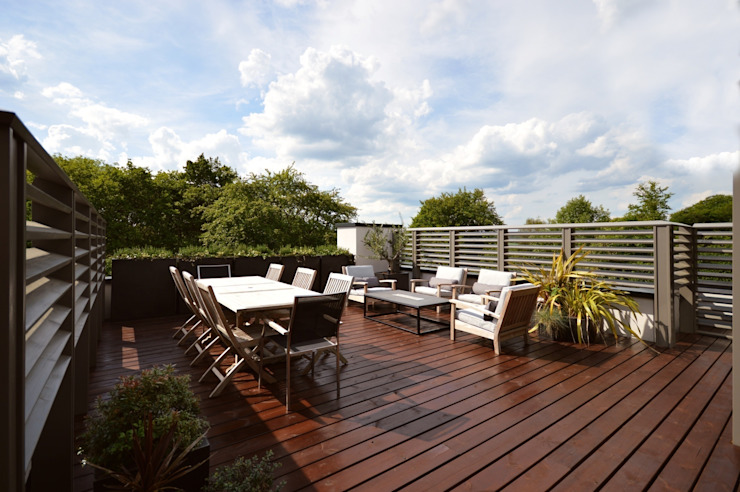 The roof terrace Modern balcony, veranda & terrace by Zodiac Design Modern