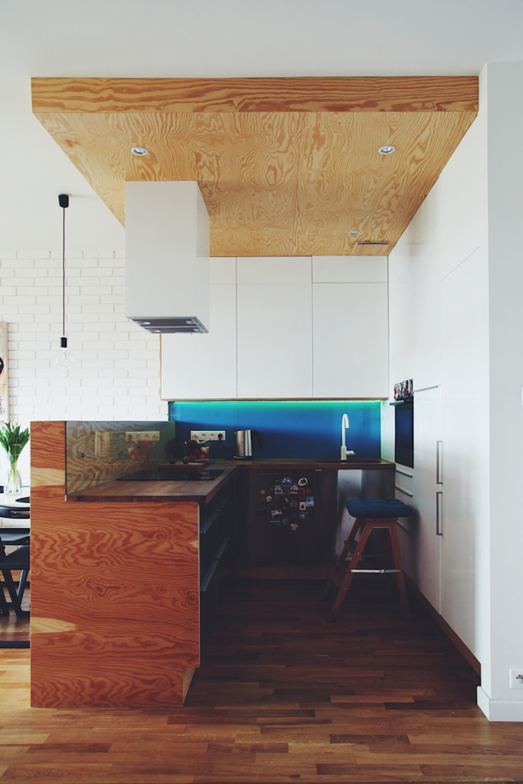 ofdesign Oskar Firek Plywood Warsaw kuchnia Skandynawska kuchnia od OFD architects Skandynawski