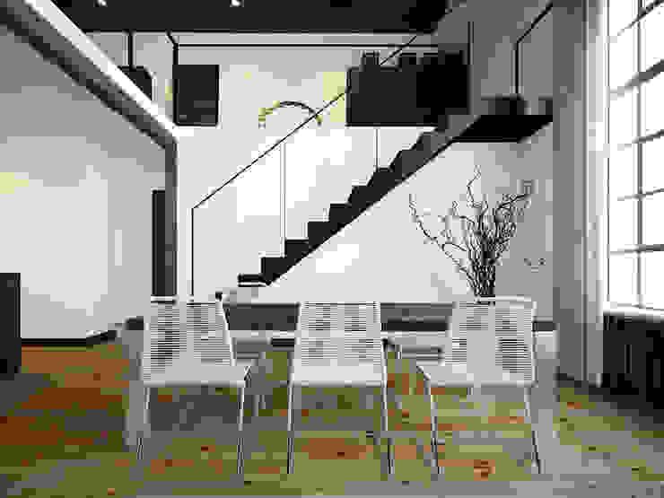 ofdesign Oskar Firek Loft Apartment jadalnia Minimalistyczna jadalnia od OFD architects Minimalistyczny