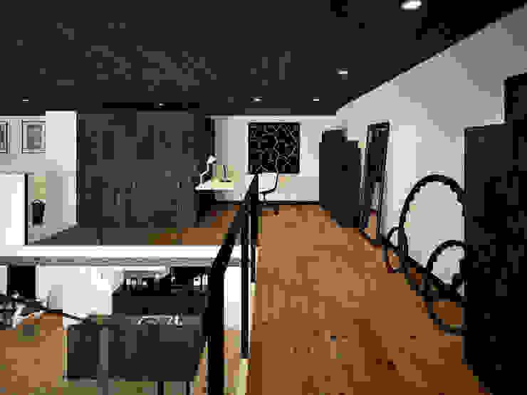 ofdesign Oskar Firek Loft Apartment antresola/gabinet Minimalistyczne domowe biuro i gabinet od OFD architects Minimalistyczny