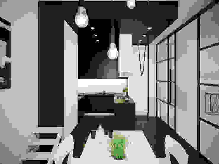 ofdesign Oskar Firek Mono Apartment kuchnia Minimalistyczna kuchnia od OFD architects Minimalistyczny