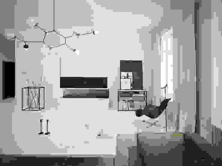 ofdesign Oskar Firek Mono Apartment salon: styl , w kategorii Salon zaprojektowany przez OFD architects,Minimalistyczny