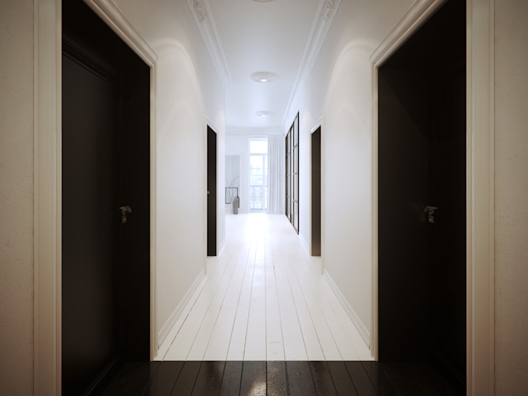 Corridor, hallway by OFD architects, Minimalist