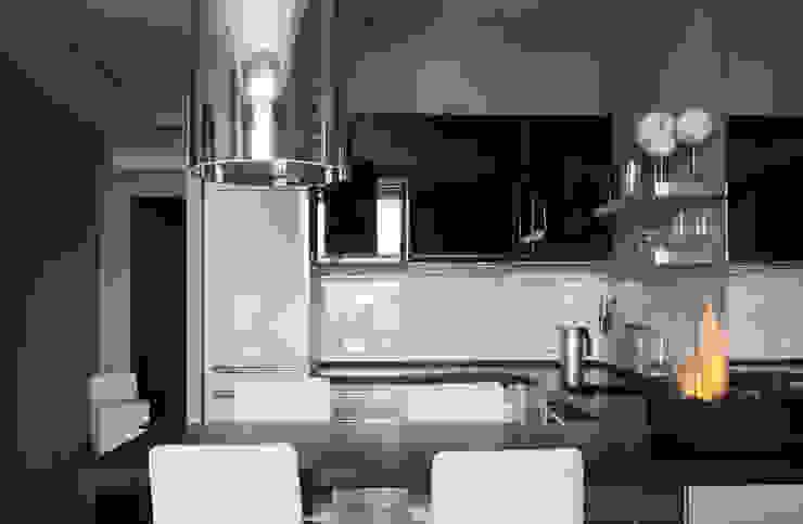 Апартаменты в жк <q>Авеню 77</q> / Москва Бюро TS Design Кухни в эклектичном стиле