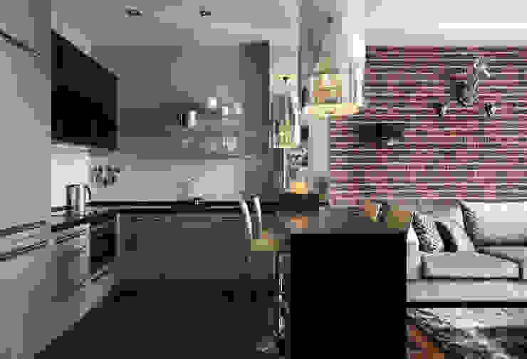 """Апартаменты в жк """"Авеню 77"""" / Москва Бюро TS Design Кухни в эклектичном стиле"""