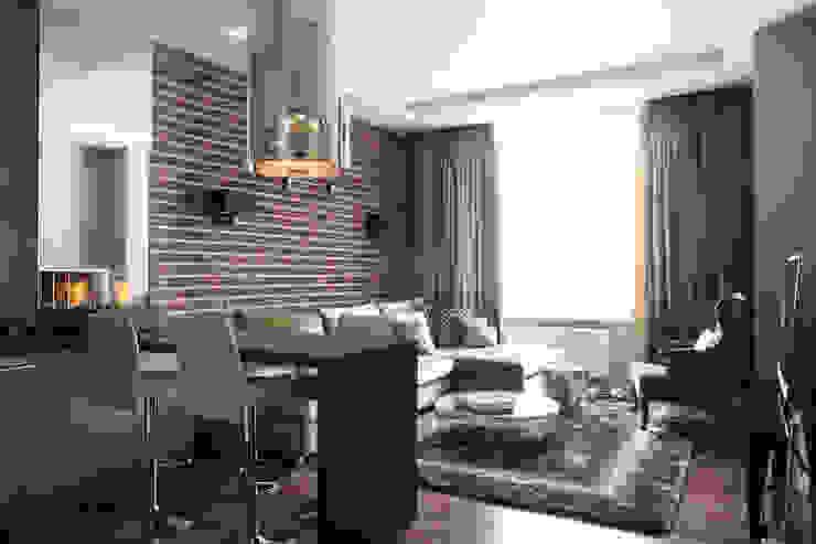 Апартаменты в жк <q>Авеню 77</q> / Москва Бюро TS Design Гостиные в эклектичном стиле