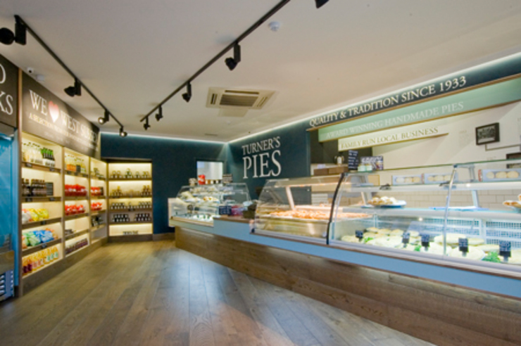 main pie couner Modern gastronomy by Engaging Interiors Limited Modern