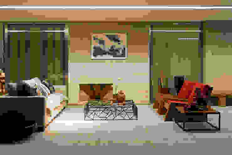 Casa Condomínio Nova Lima Varandas, alpendres e terraços modernos por Nara Cunha Arquitetura e Interiores Moderno