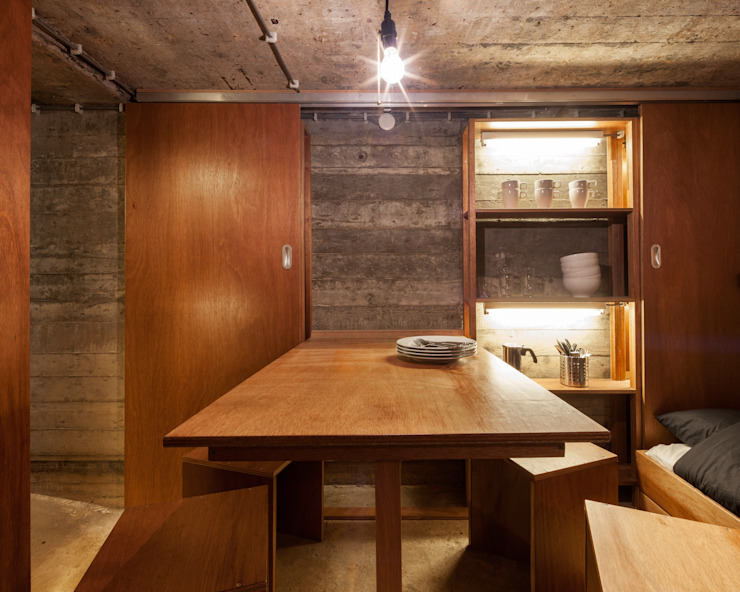 Industrial style dining room by B-ILD Architects Industrial