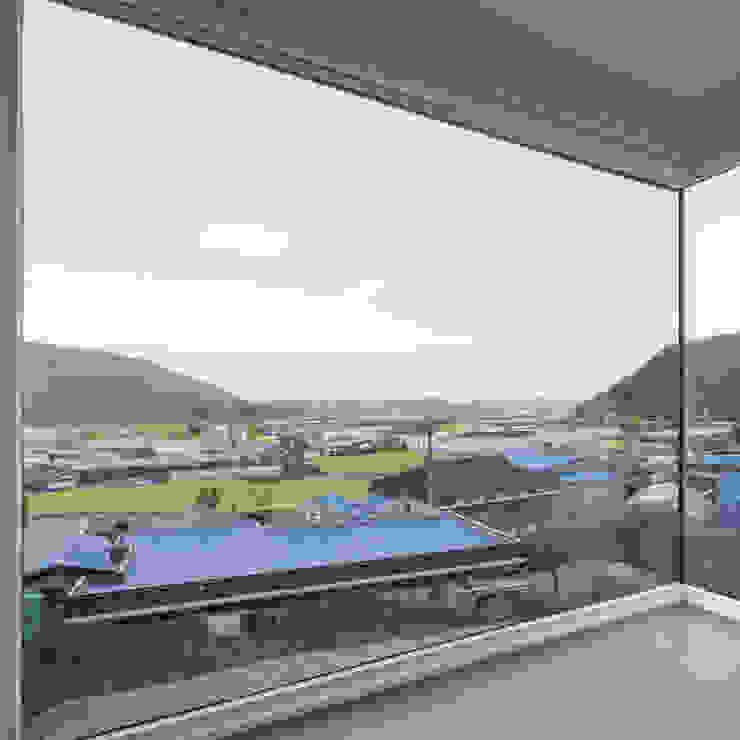 청양주택 모던스타일 거실 by Cheongju University Department of Architecture 모던
