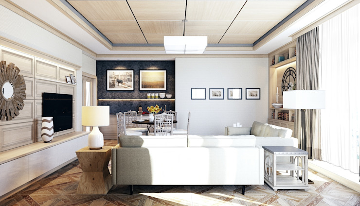 Salones modernos de Студия Искандарова Moderno