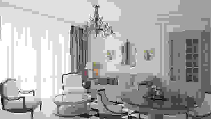 Кухня-столовая Столовая комната в стиле модерн от Студия Искандарова Модерн