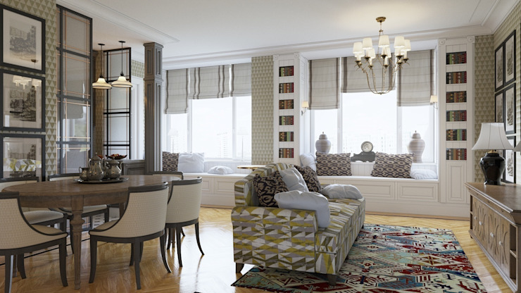 Гостиная Гостиная в стиле модерн от Студия Искандарова Модерн