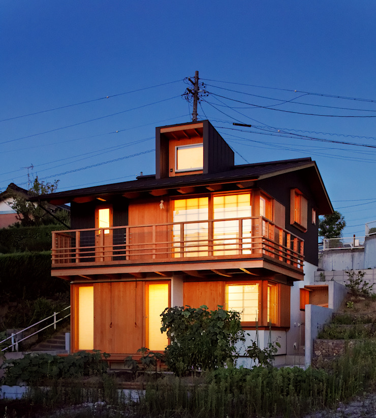 「和」 モダンな 家 の 磯村建築設計事務所 モダン
