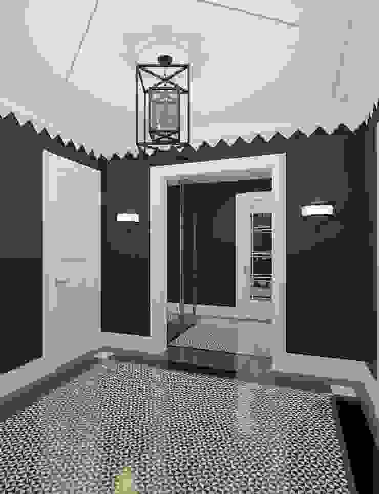 Холл Коридор, прихожая и лестница в модерн стиле от Студия Искандарова Модерн