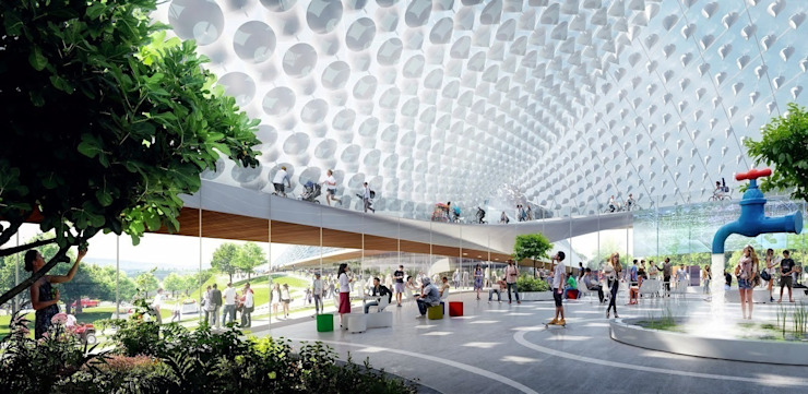 Google's new Californian HQ - Mountain View - Heatherwick + Bjarke Ingels Group の Heatherwick