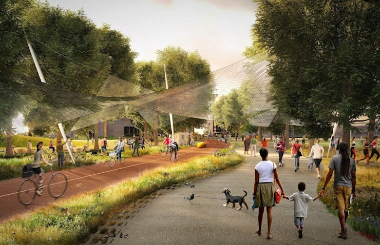 Google's new Californian HQ - Mountain View - Heatherwick + Bjarke Ingels Group by Heatherwick