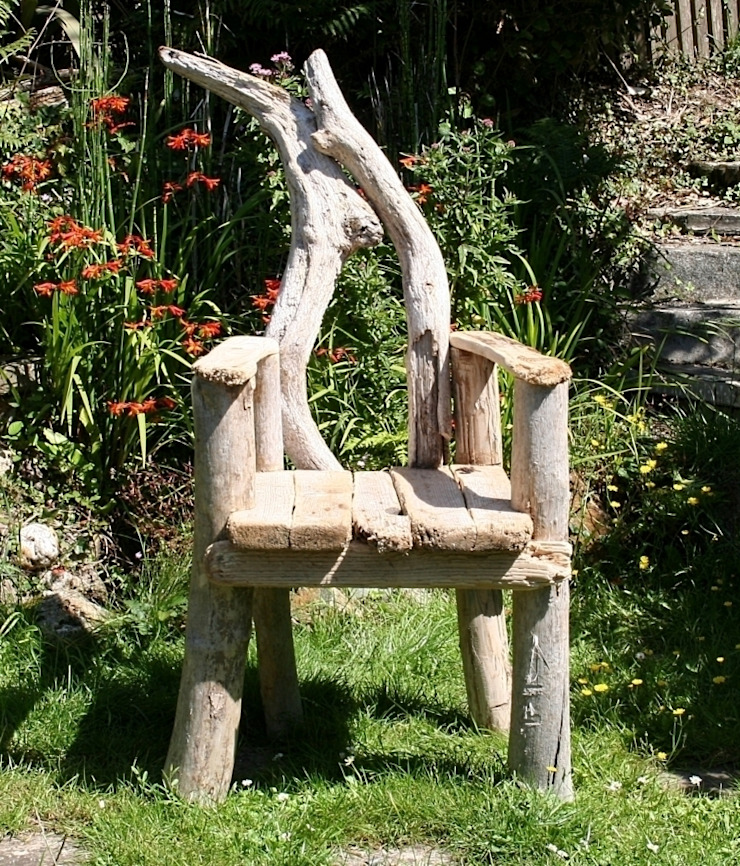 Driftwood Chair: rustic  by Julia's Driftwood, Rustic