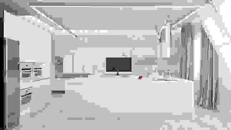 Кухня-столовая Кухня в стиле минимализм от Студия Искандарова Минимализм