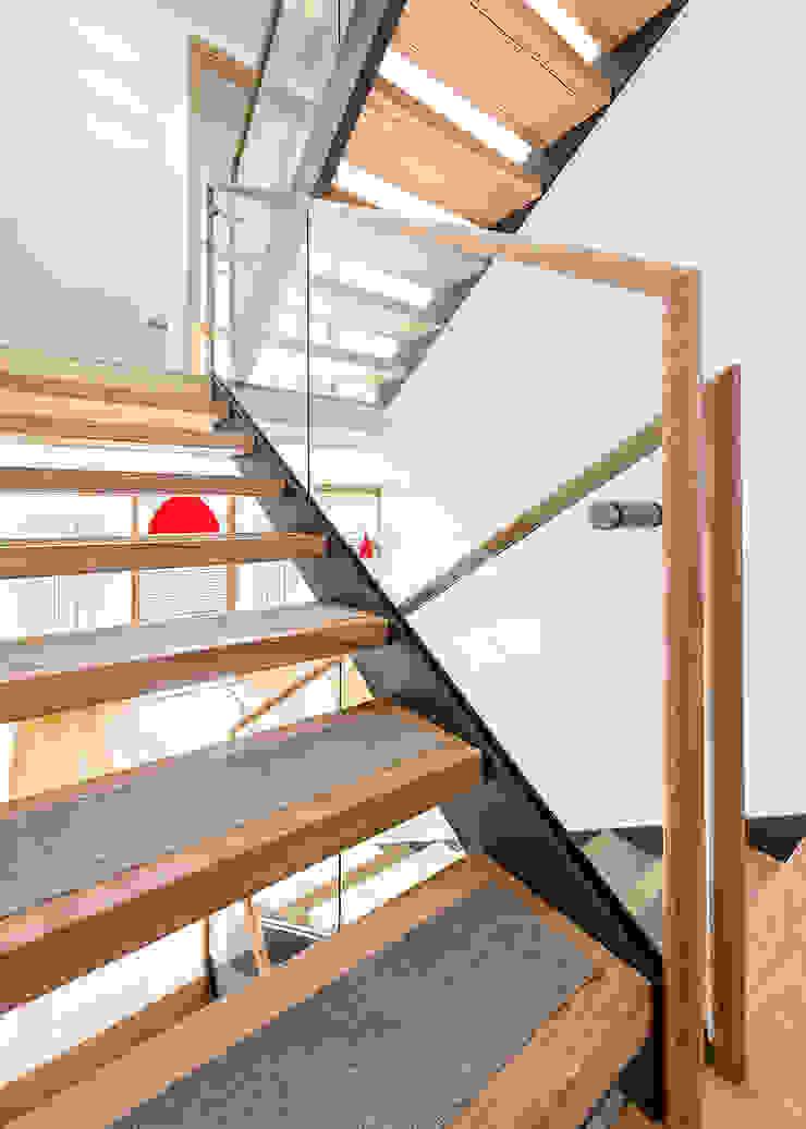 Staircase Modern corridor, hallway & stairs by AR Architecture Modern