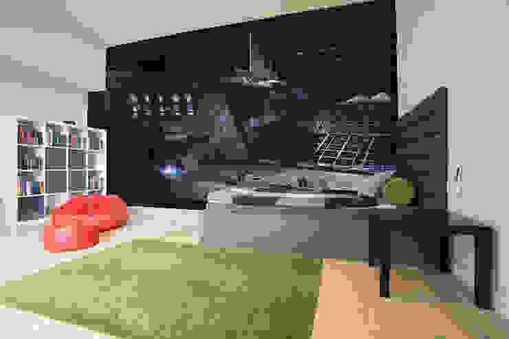 Lunar base Modern walls & floors by Wallsauce.com Modern
