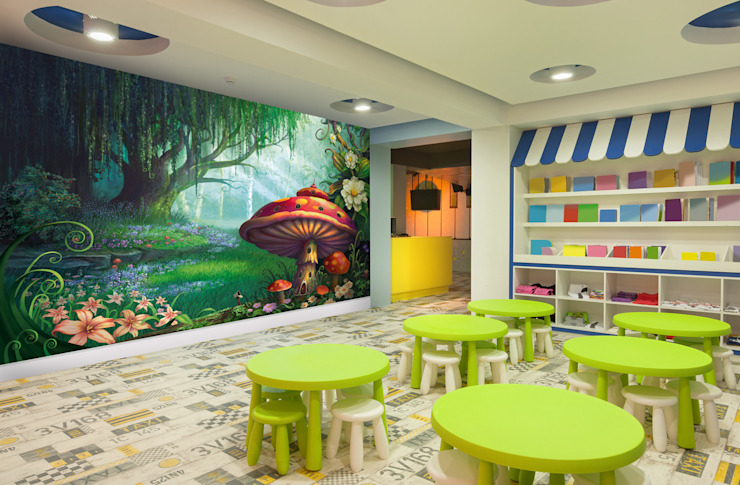 Enchanted Forest Modern nursery/kids room by Wallsauce.com Modern